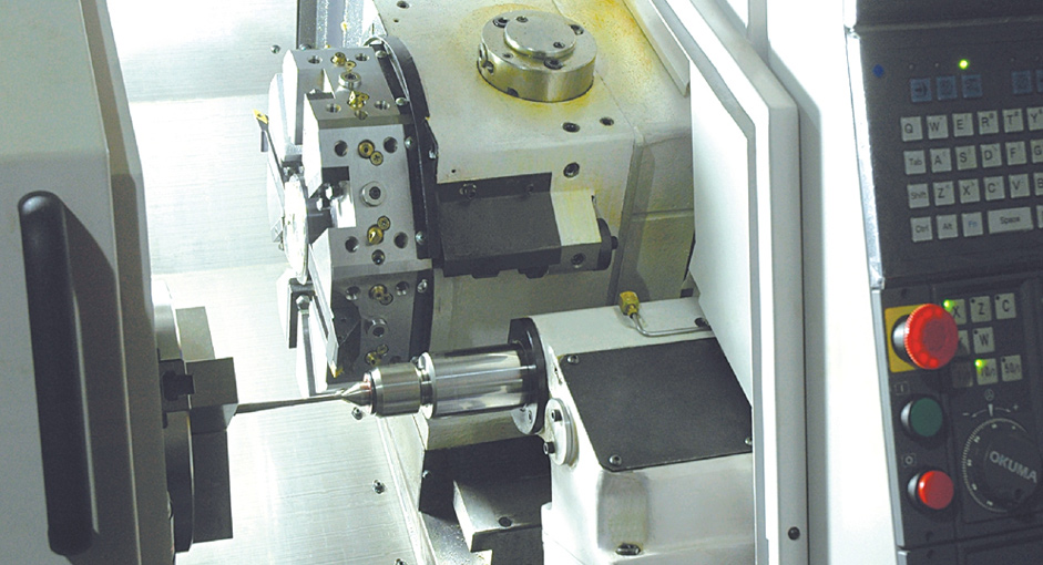 OKUMA CNC Turning Machine is working on high hardness material